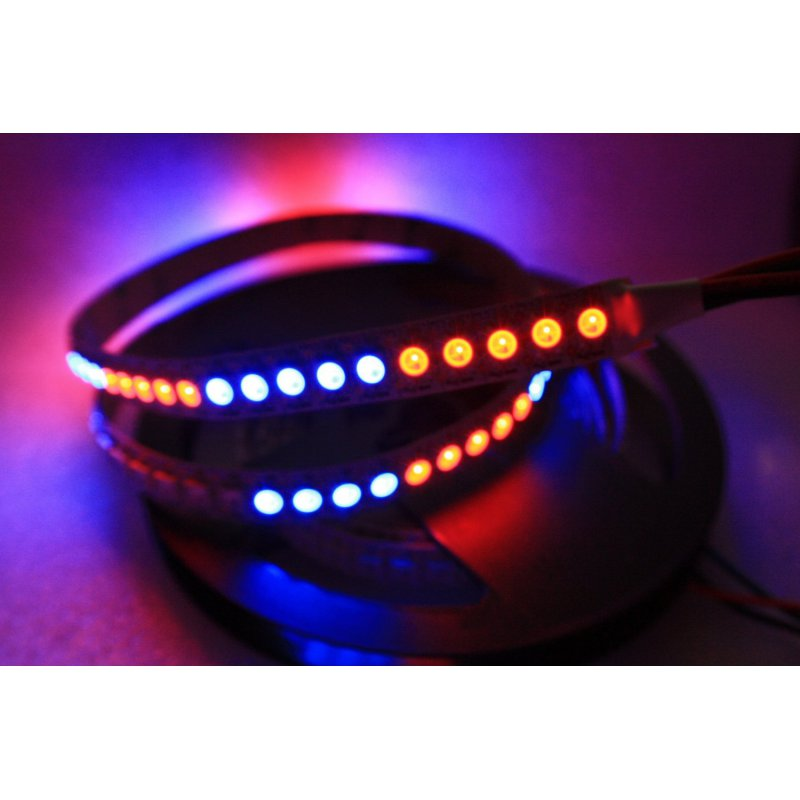 ws2812b rgb led strip 144 leds meter schwarz 27 90. Black Bedroom Furniture Sets. Home Design Ideas