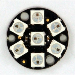 DIGI-DOT Button mit 7 x WS2812B-LEDs