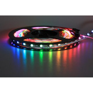 WS2812B RGB-LED-Stripes, 30 LEDs/Meter, Schwarz