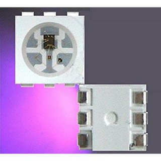 50 x UV ultraviolett SMD-LED 5050 P 395nm
