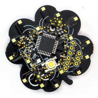 Basic-Badge 16, Party-Effekt-Sticker mit 16 RGB-Leds
