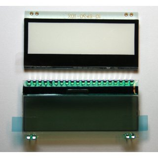 LCD-Display 132x32 Pixel, Beleuchtung Weiss